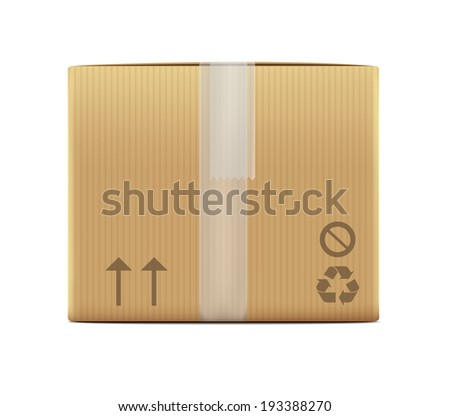 Carton Box - stock vector