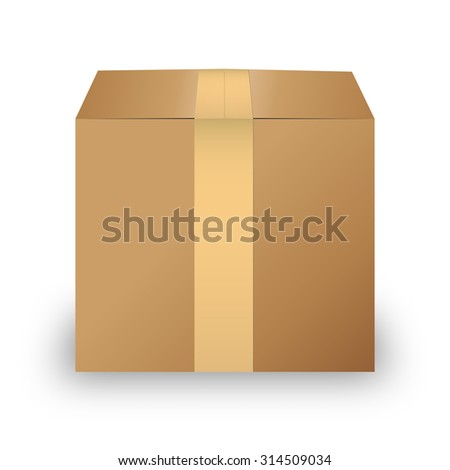 Carton box isolated on white background vector illustration - stock vector