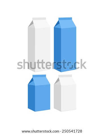 Carton of milk. Isolated on white background