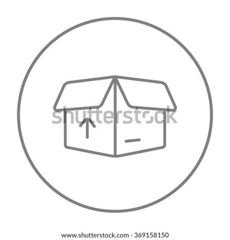 Carton package box line icon. - stock vector