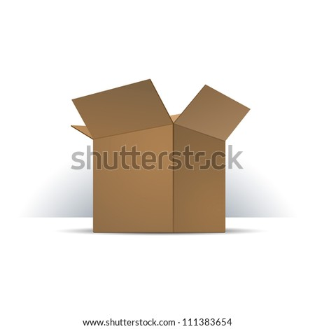 Carton Package Box Opened. Ready For Your Design. Product Packing Vector EPS10 - stock vector