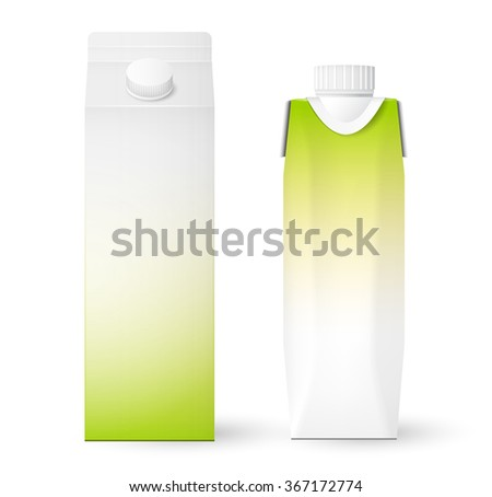 carton package template for juice or dairy product vector - stock vector