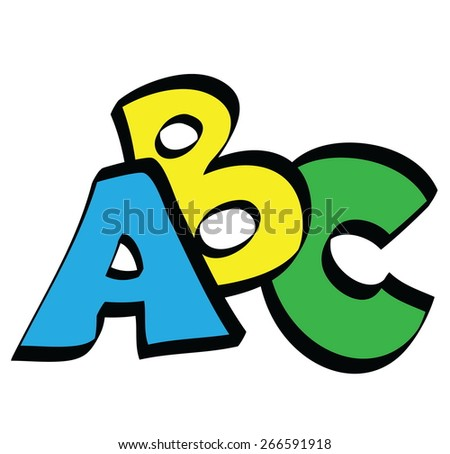 cartoon ABC letters, vector icon - stock vector
