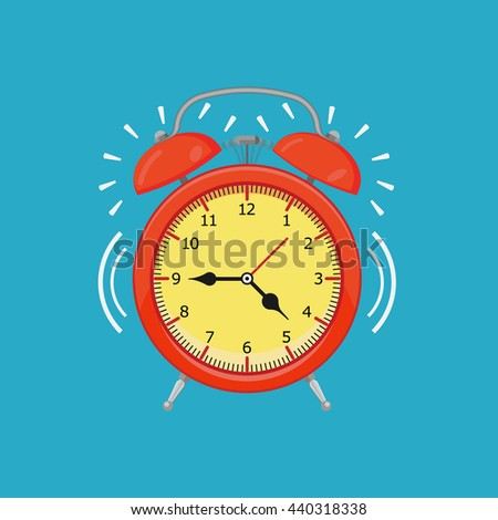cartoon alarm clock - stock vector