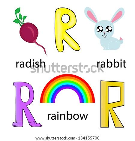 r alphabet animation  cartoon alphabet for children ...