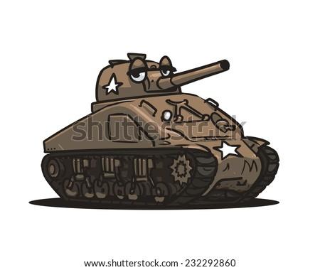 Cartoon american tank ww 2 stock vector 232292860 shutterstock cartoon american tank ww2 publicscrutiny Image collections