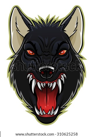 angry werewolf face-#13