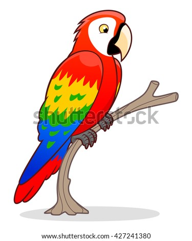 Cartoon Ara parrot