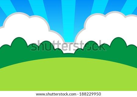 Cartoon Backdrop ,vector eps10 - stock vector