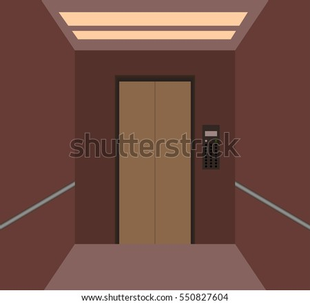 cartoon background with lift