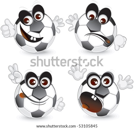 Cartoon ball emotions - stock vector