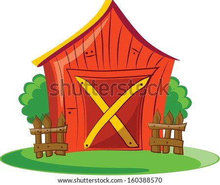 Cartoon Barn Cartoon Barn Vector