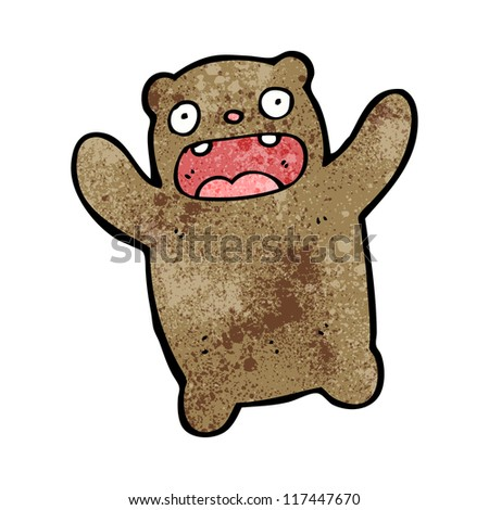 cartoon bear - stock vector