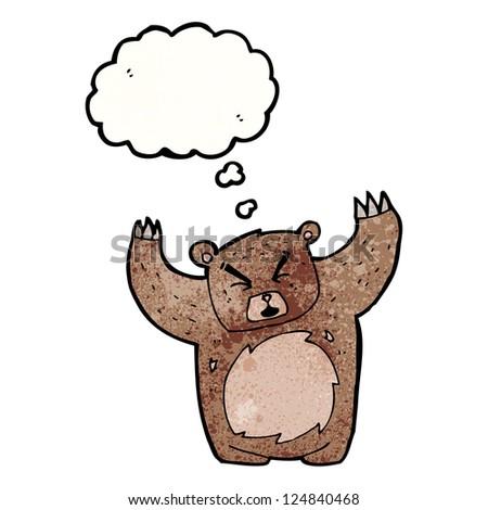 cartoon bear - stock vector
