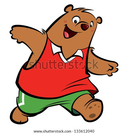 Stock Images similar to ID 55577446 - running bear cartoon