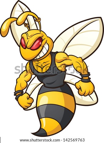 cartoon bee mascot vector clip art stock vector hd royalty free rh shutterstock com  hornet mascot clipart free