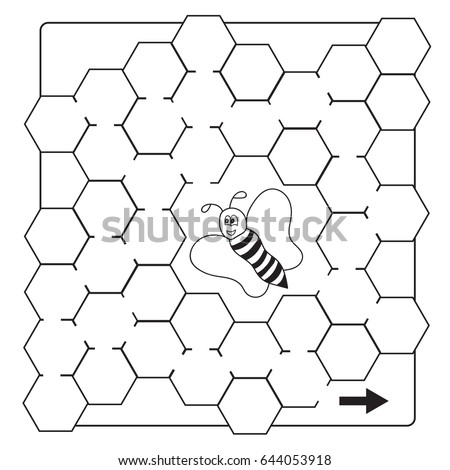 Honey Comb Cartoon Coloring Coloring Pages