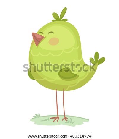 Cartoon Bird - stock vector