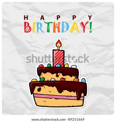 Birthday cake silhouette graphic