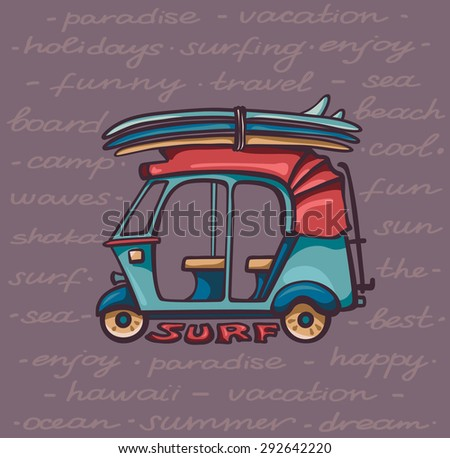 stock vector cartoon blue auto rickshaw with surfboards vector illustration about surfing vacations 292642220 ih 1066 wiring diagram ih 1066 parts wiring diagram ~ odicis ih 1066 wiring diagram at readyjetset.co
