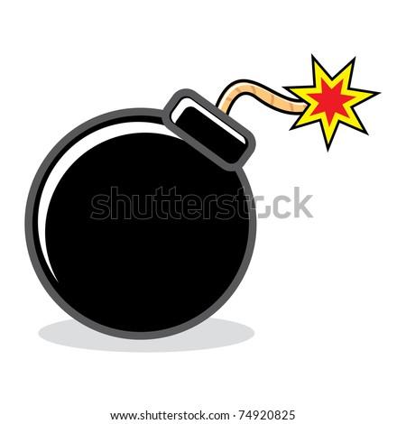 cartoon bomb - stock vector