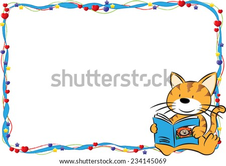 Cartoon Border Frame Vector de stock234145069: Shutterstock