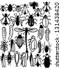 cartoon bugs and insects,layered vector set - stock vector