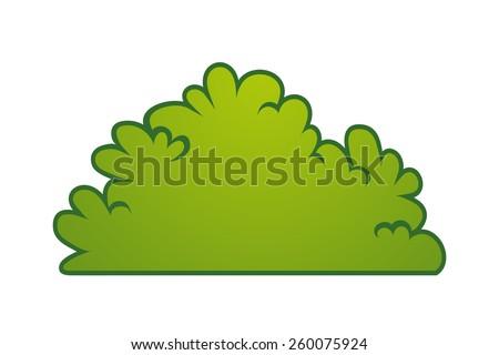 Cartoon bush element vector stock vector