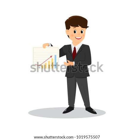 Cartoon businessman.Vector illustration. Isolated on white background