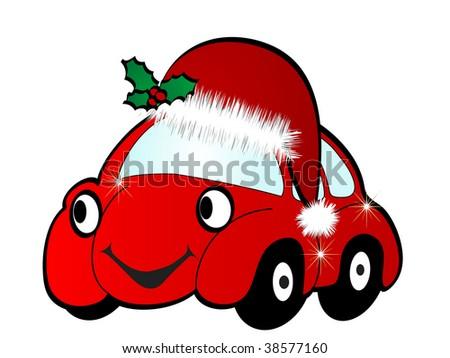 Cartoon car - vector illustration - stock vector