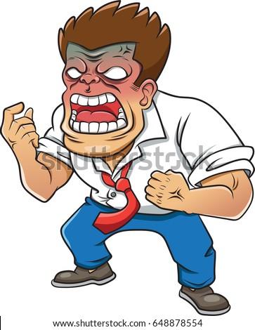 Cartoon Kid Suffering Bullying Vector Illustration Stock ...