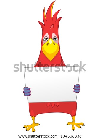 Cartoon Character Funny Parrot Isolated on White Background. Vector EPS 10. - stock vector