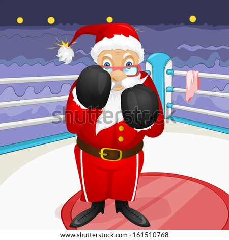 Cartoon Character Santa Claus. Vector EPS 10. - stock vector