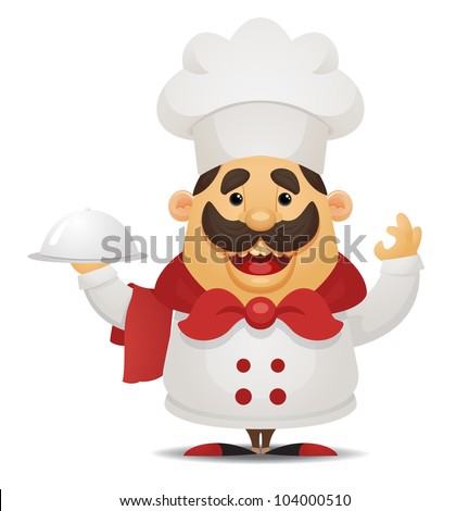 Cartoon Chef - stock vector