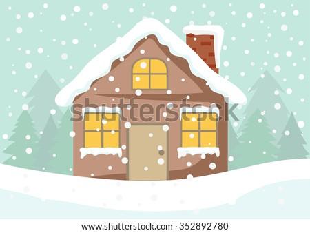 Cartoon Clip Art Cute Cottage House 352892780