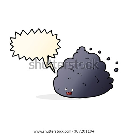 cartoon cloud character with speech bubble - stock vector