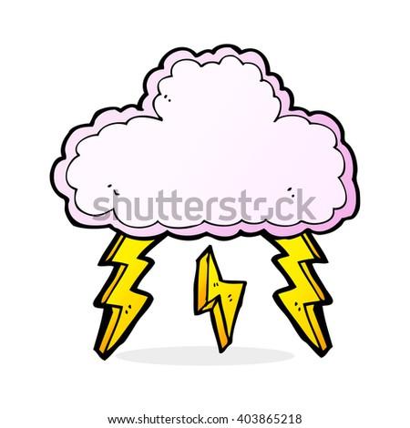 cartoon cloud symbol - stock vector