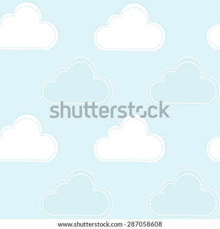 Cartoon clouds seamless pattern