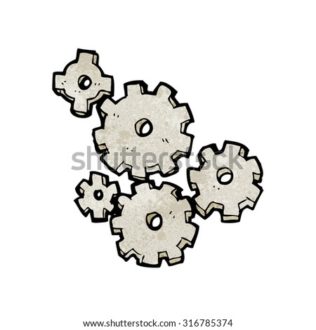 cartoon cogs and gears - stock vector