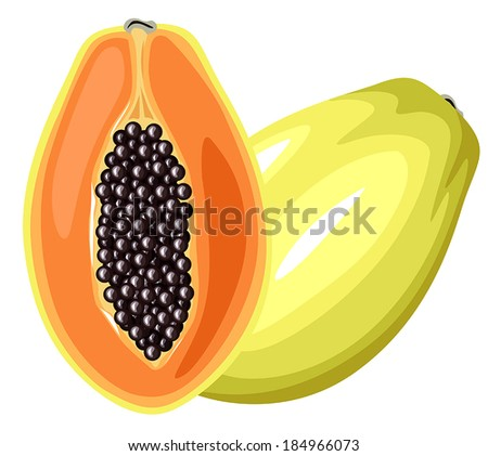 Cartoon colorful image papaya fruit