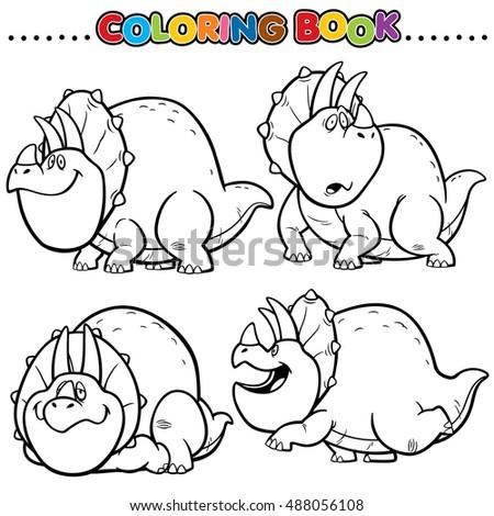 Vector Set Cute Animals Lion Rhino Stock Vector 274594175