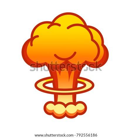 cartoon comic style nuclear mushroom cloud stock vector 2018 rh shutterstock com image mushroom cloud cartoon image mushroom cloud cartoon