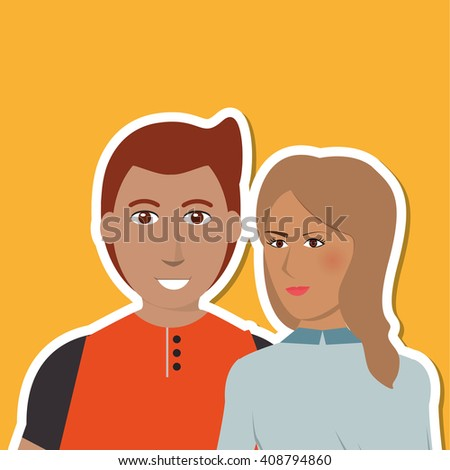cartoon couple design , people and relationships concepts