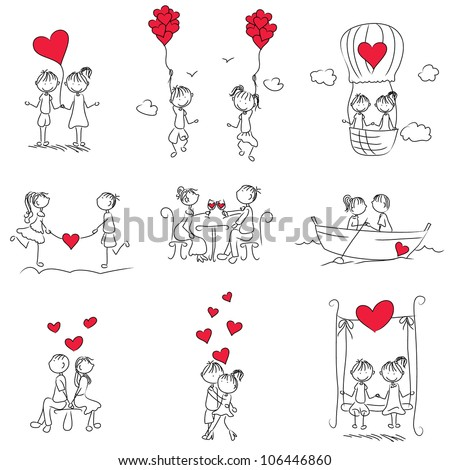 Cartoon couple on bed furniture ideas