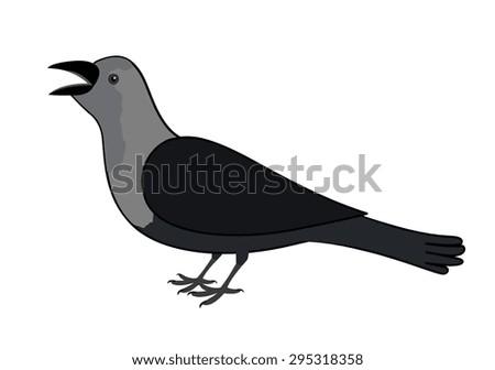 Cartoon Crow - stock vector
