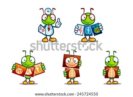 Cute Ant Logo Cartoon Cute Ant With a Doctor