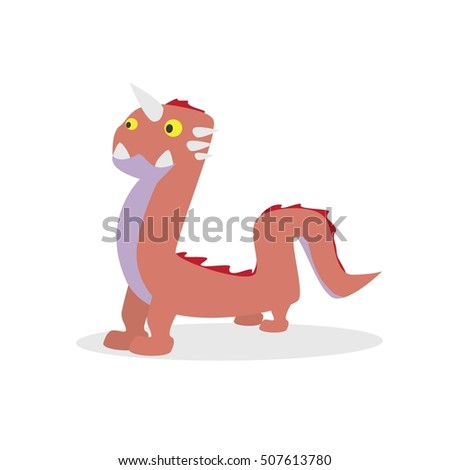 Cartoon cute character monsters vector isolated on white background. Vector flat illustration