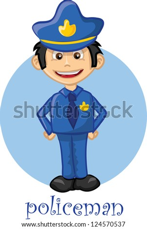Cartoon cute character - policeman
