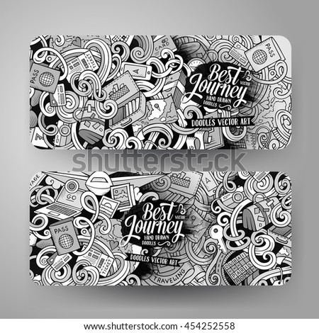 Stock images royalty free images vectors shutterstock cartoon cute line art vector hand drawn doodles travel corporate identity 4 horizontal journey banners pronofoot35fo Choice Image