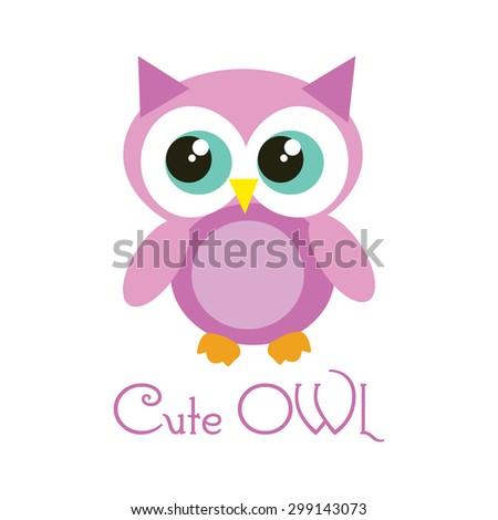 Cartoon cute owl vector stock vector 299143073 shutterstock cartoon cute owl vector voltagebd Image collections